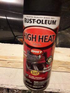 High-temperature spray paint