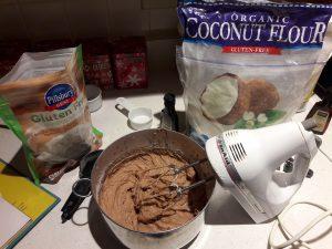 Coconut Chocolate Crinkle Cookies